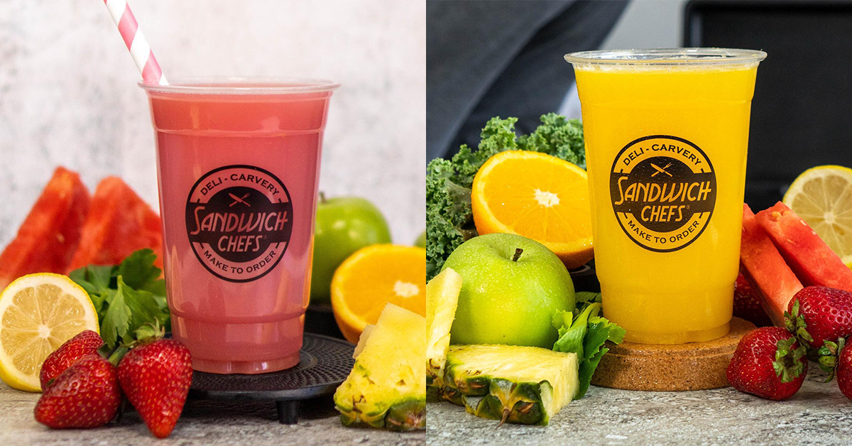 Freshly Squeezed Juices Made to Order! – Sandwich Chefs