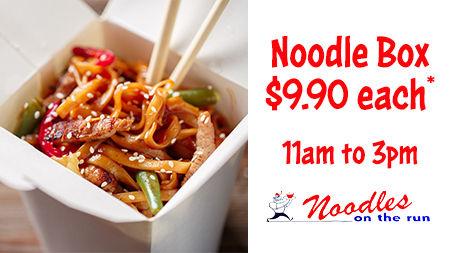 Lunch from $9.90, Noodles On The Run