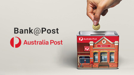 Aust Post makes banking easy for small businesses.